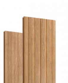 Террасная доска дпк полнотелая TERRADECK MASSIVE PRO (Россия) цвет орех / св-коричневый