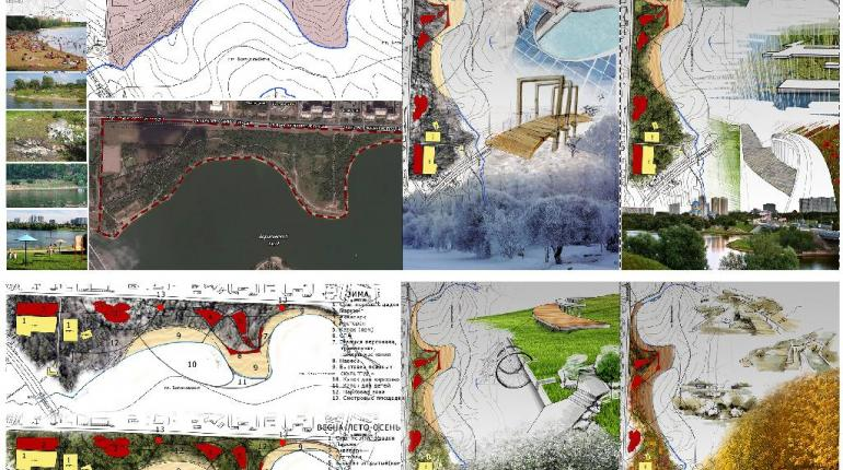 Проектное предложение по организации многофункциональной  парково-пляжной зоны в районе Братеево