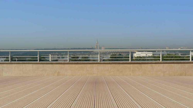 террасная доска на крыше